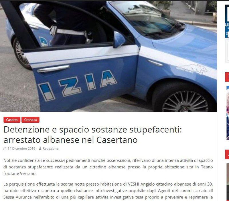 Trafikonte doza droge, arrestohet shqiptari në Itali (Zbulohet emri)