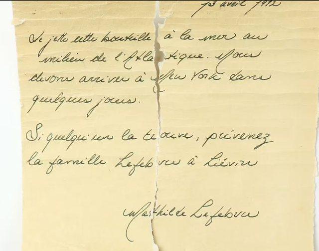 Ngrihen dyshimet për 'fatin' e Titanikut, letra e