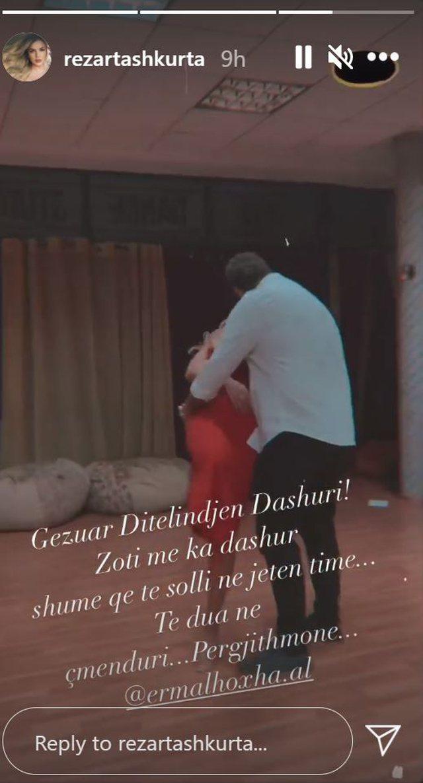 """""""Të dua në çmenduri"""", Rezarta Shkurta uron nipin e"""