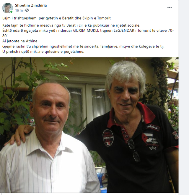 Sport in mourning / The well-known Albanian coach dies, the journalist gives the