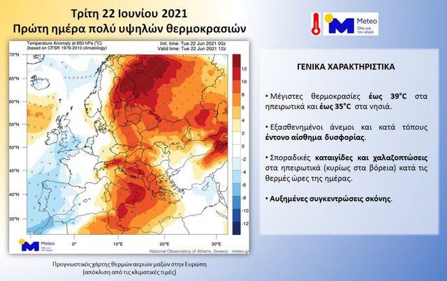 Temperatura ekstremisht të larta/ Publikohet harta e rrymave ajrore