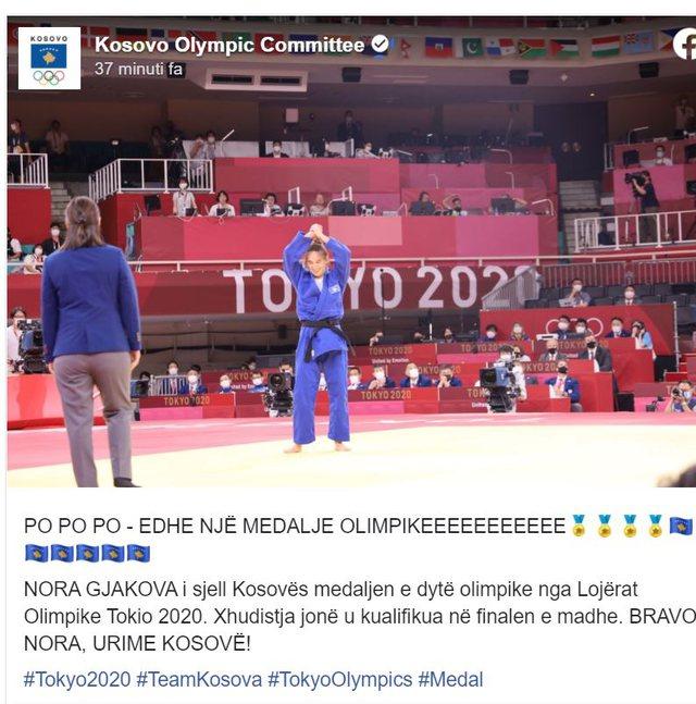 TOKIO 2020/ Nuk kanë fund sukseset për Kosovën, Xhudistja Nora
