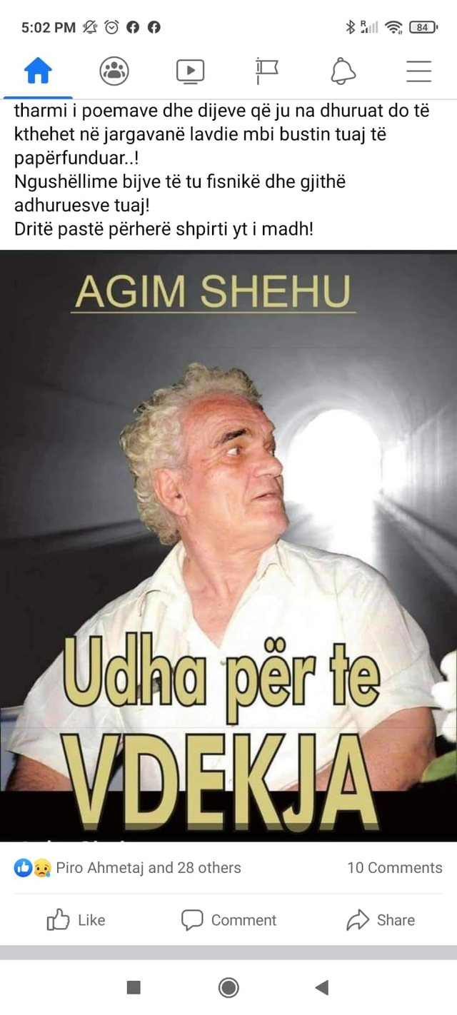 Albanian art in mourning, the famous poet and writer dies suddenly (PHOTO +