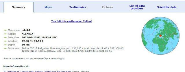 Toka nuk gjen qetësi/ Dy lëkundje të forta tërmeti