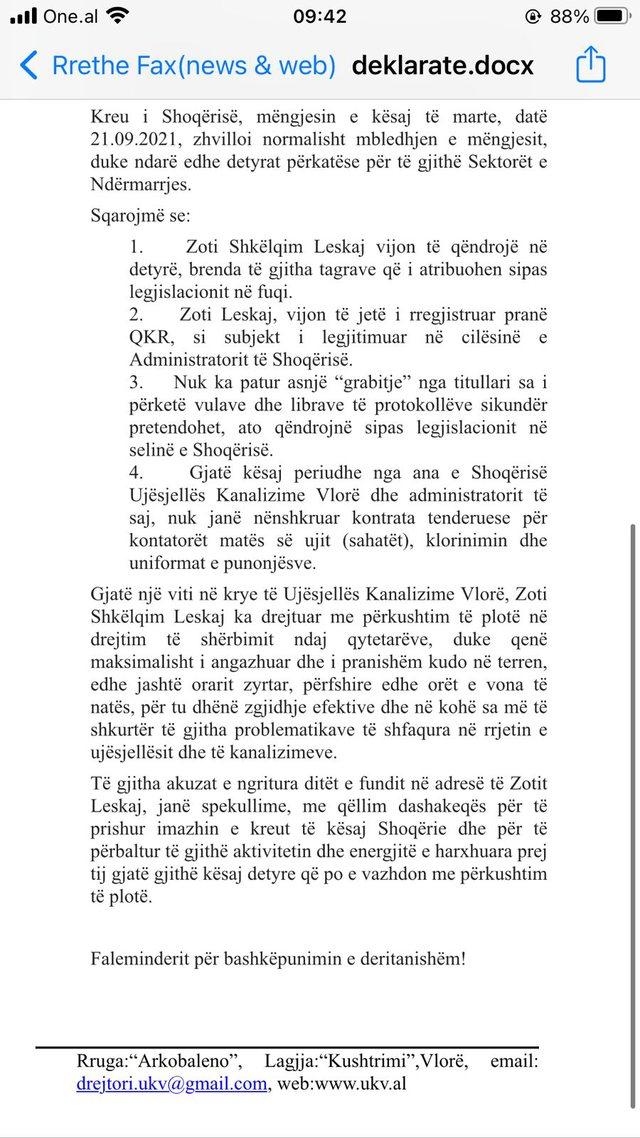Konflikti me kryebashkiakun Dritan Leli dhe drejtorit të bashkisë