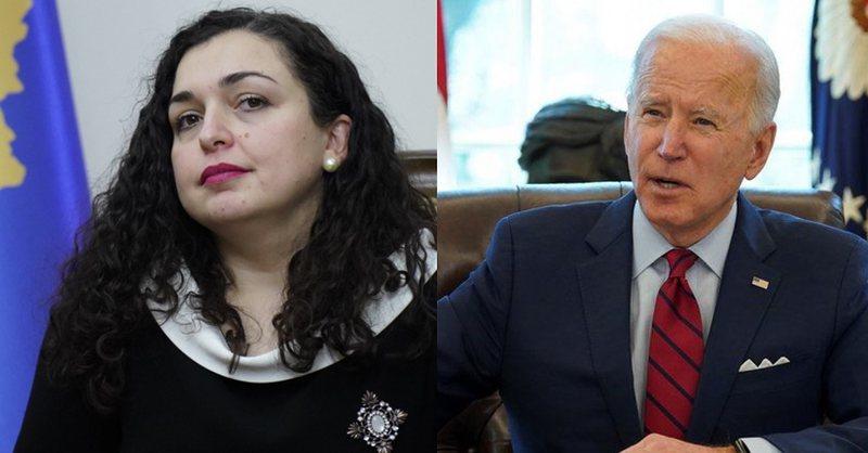 Vjosa Osmani jep lajmin fantastik: Biden në emër të SHBA ka