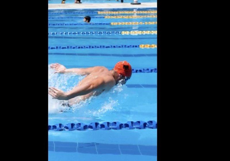 Talenti i sportit të notit garon në Lojërat Olimpike, Veliaj