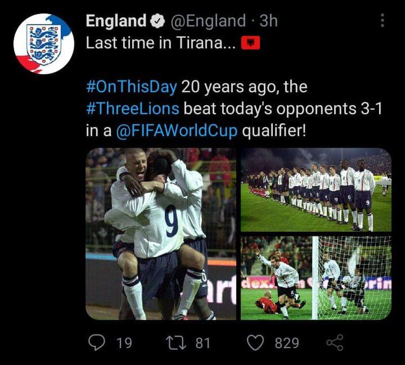 """Provokojnë anglezët, kujtojnë fitoren e madhe të """"3"""