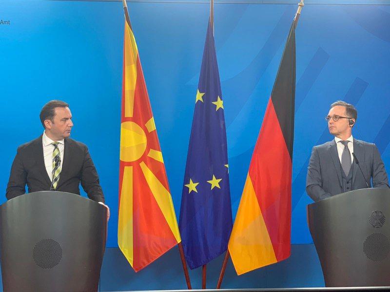 Integrimi në BE, Gjermania kundër ndarjes të Maqedonisë