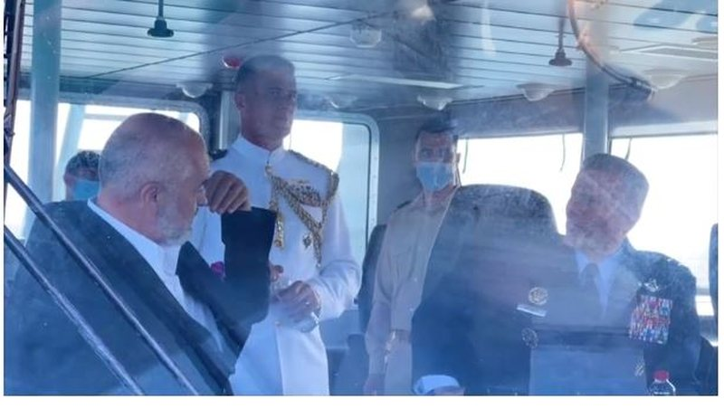 Rama and Ambassador Yuri Kim tour the Adriatic with the US military ship. PM