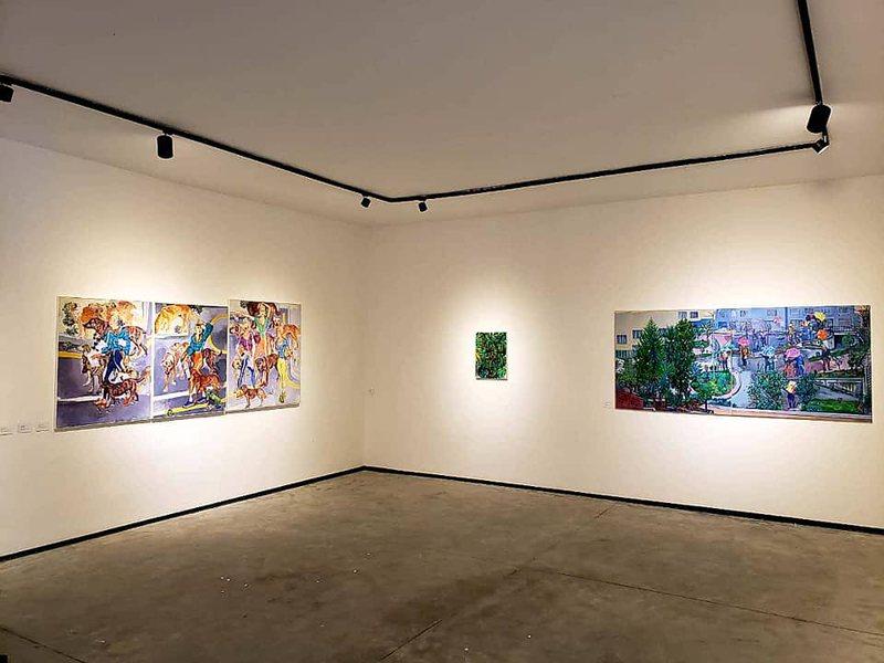 Piktori Shpëtim Kërçova ekspozitë në galerinë