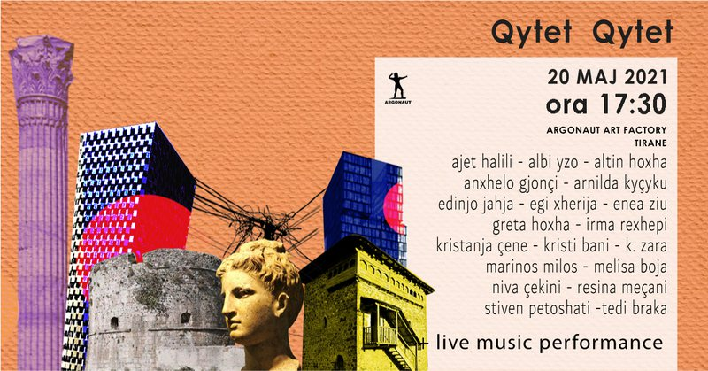 """Ekspozita """"Qytet-qytet"""" me punët e 19 artistëve, një"""