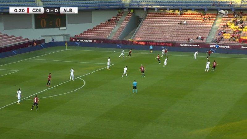 Shënohet gol në ndeshjen e Shqipërisë me Republikën