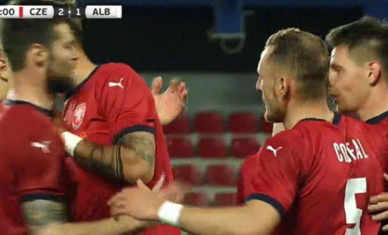 Shënohet goli i tretë në miqësoren Çeki-Shqipëri