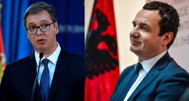 Takimi Kurti-Vuçiç në Bruksel, zyra e Bashkimit Europian