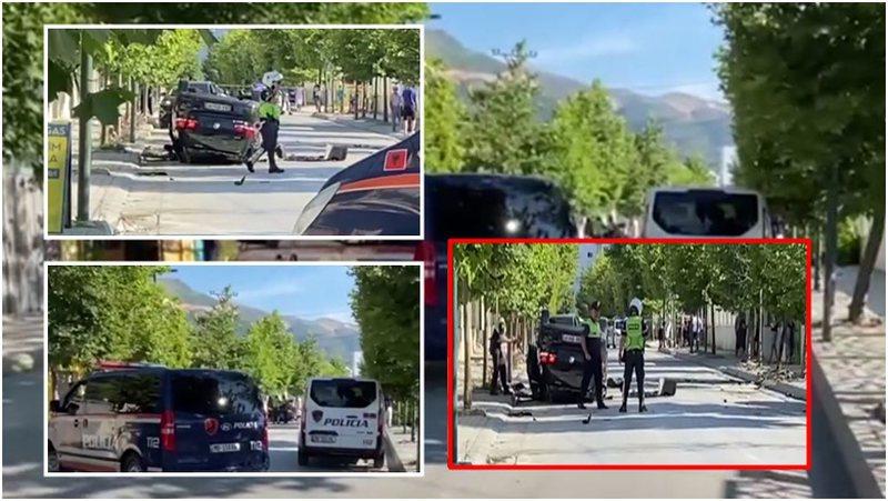 Nuk i ndalon postbllokut të policisë, automjeti përfundon i