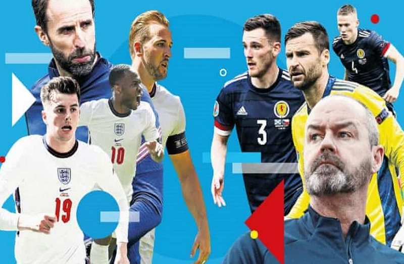 EURO2020 / Official formations of the England-Scotland match