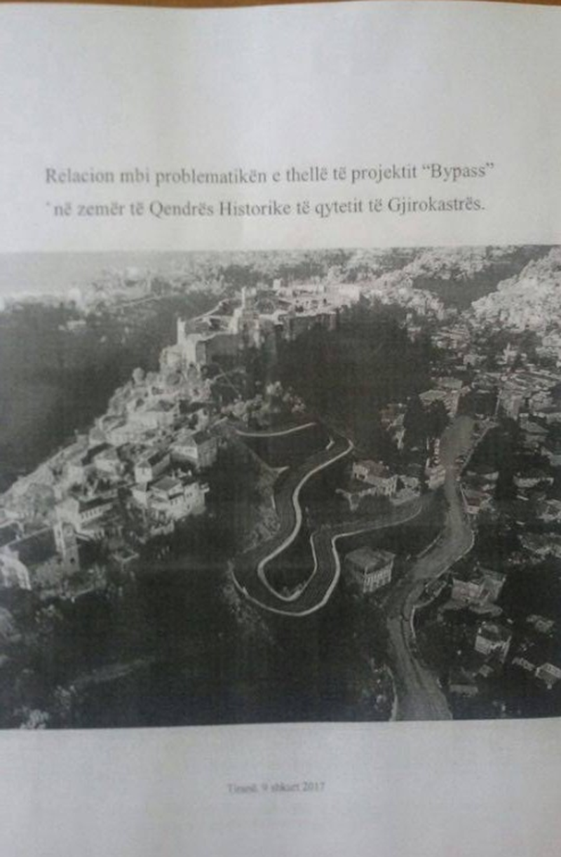Bypass in Gjirokastra, UNESCO: Stop the works