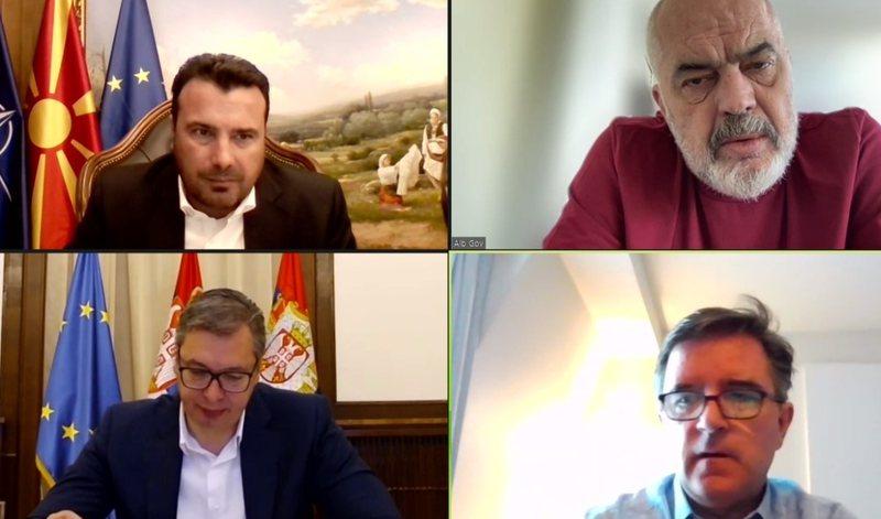'Ky është Ballkani i ri, Europian', Zaev takim virtual me
