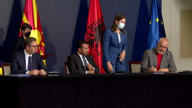 Rama, Vuçiç dhe Zaev vënë firmat, nënshkruhet
