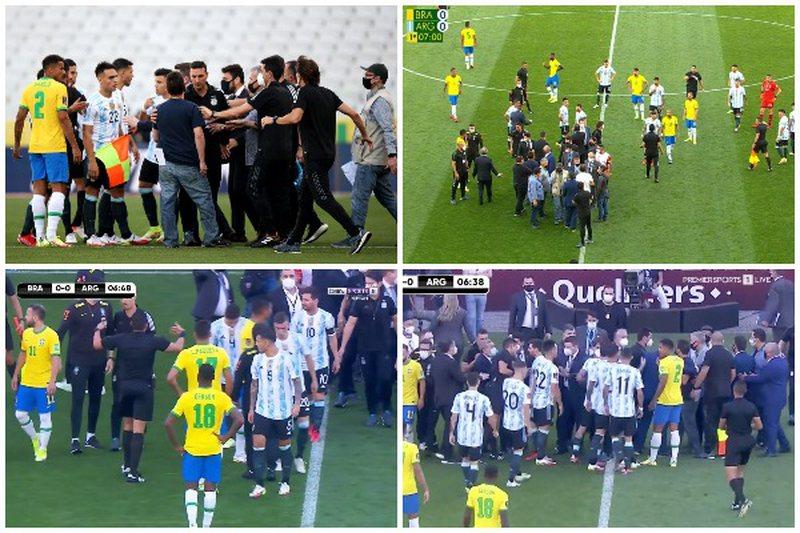 Plas në ndeshjen mes Brazil-Argjentinë, ndërhyn policia dhe