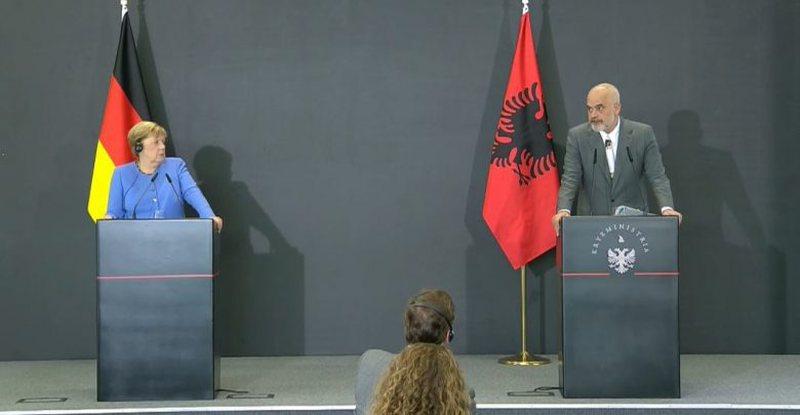 Vizita e Angela Merkel në Tiranë, ja çfarë shkruajnë