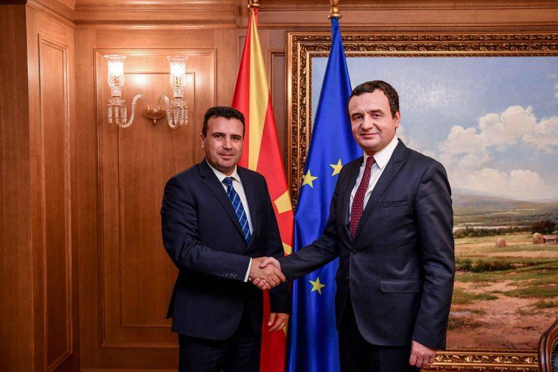Qeveritë e Kosovës dhe Maqedonisë së Veriut takim në