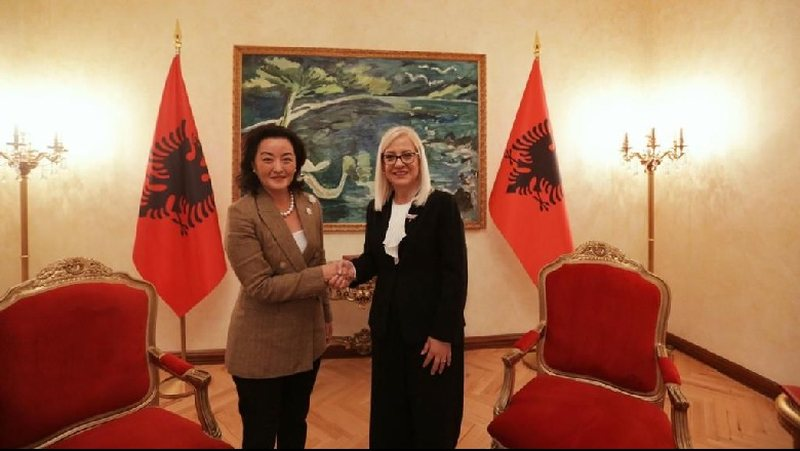 Lindita Nikolla face-to-face meeting with Yuri Kim, the Speaker of the Assembly