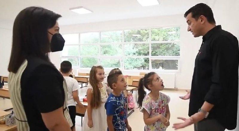 Veliaj dhe Kushi në shkollën e re 'Murat Toptani' në