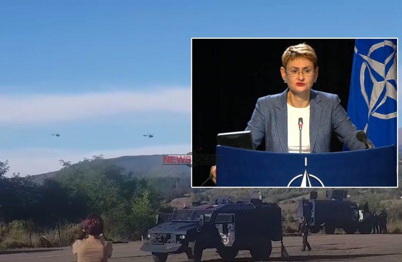 Tre helikopterë të ushtrisë serbe pranë kufirit me