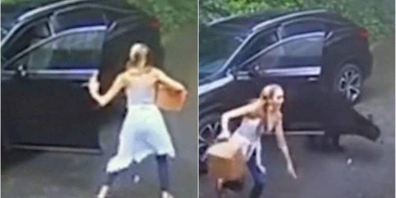 Hap derën e makinës, gruaja ia fut vrapit e tmerruar nga ajo që