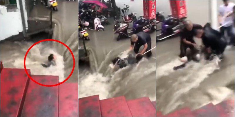 VIDEO tmerruese! Momenti kur gruaja 'përpihet' nga rrjedha e