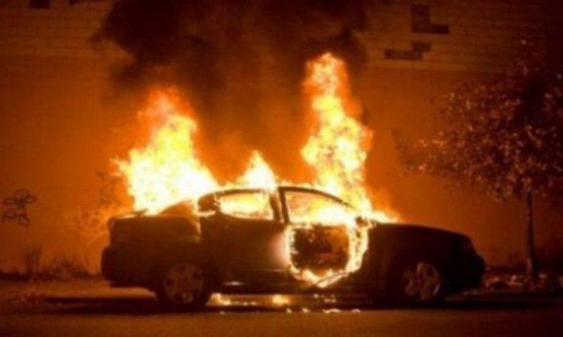 Benzi merr flakënë aksin Korçë-Pogradec, Policia